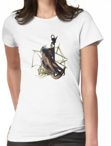 Captain Squid At Sea Womens Fitted T-Shirt