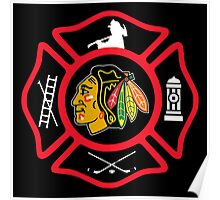 Chicago Fire - Blackhawks style Poster