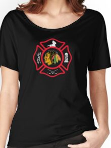 Chicago Fire - Blackhawks style Women's Relaxed Fit T-Shirt