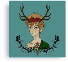 Wild Forest Boy Canvas Print