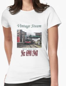 Vintage Steam Railway Train number 6990  Womens Fitted T-Shirt
