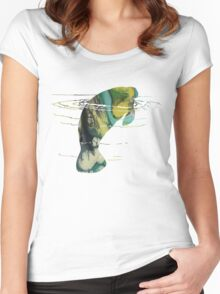 Manatee Women's Fitted Scoop T-Shirt