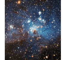 LH 95 stellar nursery in the Large Magellanic Cloud Photographic Print