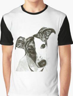 Black and White Dog Graphic T-Shirt
