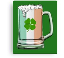 Irish beer mug Canvas Print