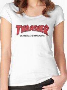 Thrasher Magazine Red Logo Design Women's Fitted Scoop T-Shirt