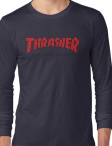 Thrasher Magazine Red Logo Design Long Sleeve T-Shirt
