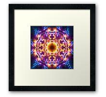 Bright Lights Mandala Framed Print