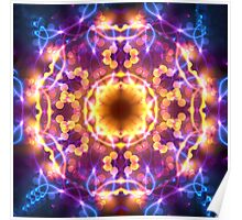 Bright Lights Mandala Poster