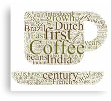 History of Coffee Canvas Print
