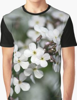White Wildflowers Graphic T-Shirt
