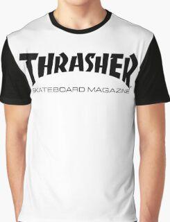 "Thrasher ""Skateboard Magazine"" Logo Design Graphic T-Shirt"