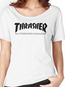 """Thrasher """"Skateboard Magazine"""" Logo Design Women's Relaxed Fit T-Shirt"""