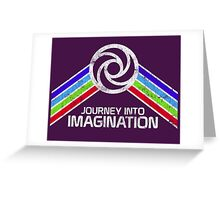 Journey Into Imagination Distressed Logo in Vintage Retro Style Greeting Card