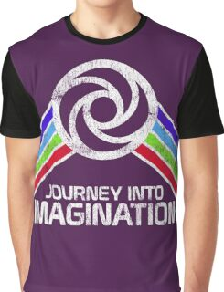 Journey Into Imagination Distressed Logo in Vintage Retro Style Graphic T-Shirt