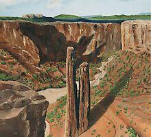 Spider Rock Arizona USA by Barbara Applegate