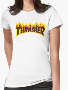 "Thrasher ""Flame"" Logo Design Womens Fitted T-Shirt"