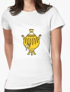 Funny Russian samovar colorful  Womens Fitted T-Shirt
