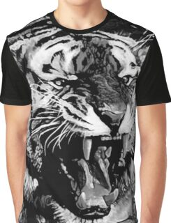 Cool Roaring Tiger Graphic T-Shirt