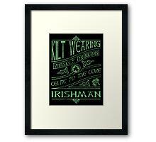 Kilt Wearing Irishman - green Framed Print