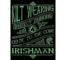 Kilt Wearing Irishman - green Photographic Print
