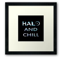Halo and Chill Framed Print