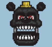 Adventure Nightmare - FNAF World - Pixel Art Kids Tee