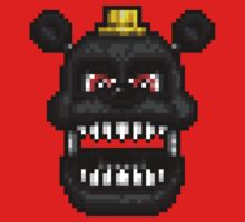 Adventure Nightmare - FNAF World - Pixel Art One Piece - Short Sleeve