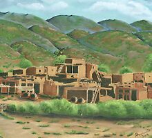 Taos Pueblo New Mexico USA by Barbara Applegate