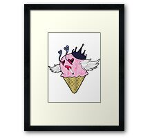 Her Eye Scream Framed Print