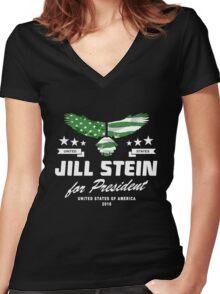 Jill Stein for president 2016 Women's Fitted V-Neck T-Shirt