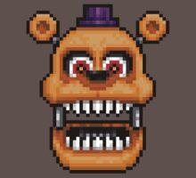 Adventure Nightmare Fredbear - FNAF World - Pixel Art Baby Tee