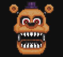 Adventure Nightmare Fredbear - FNAF World - Pixel Art One Piece - Long Sleeve