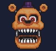 Adventure Nightmare Fredbear - FNAF World - Pixel Art One Piece - Short Sleeve