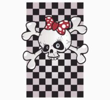 girl power skull One Piece - Short Sleeve