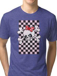 girl power skull Tri-blend T-Shirt