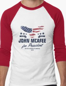 John McAfee for president 2016  Men's Baseball ¾ T-Shirt