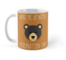 Wake Me Up When Hibernation Ends: Black Mug