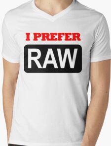 I prefer Raw for photographers Mens V-Neck T-Shirt