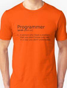 Programmer definition black T-Shirt