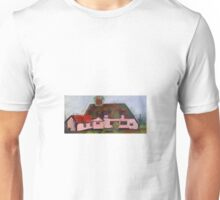 Medieval peasants thatched cottage  Unisex T-Shirt