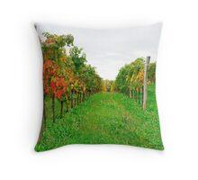 Autumn Grape Vines Near Abbazia Rosazzo Throw Pillow
