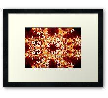 Golden Flower Mandala Framed Print