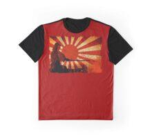 Samurai Sun Graphic T-Shirt