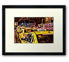 Taxis in Melbourne City Framed Print
