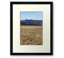 Prairie City Framed Print