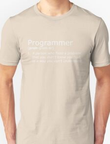 Programmer definition whte T-Shirt