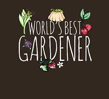 World's best gardener veggies and fruits Womens Fitted T-Shirt
