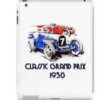 Retro vintage classic Grand Prix 1938 iPad Case/Skin