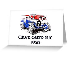 Retro vintage classic Grand Prix 1938 Greeting Card